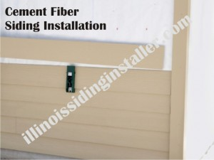 Cement Fiber siding installation in Illinois 1