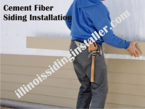 Cement Fiber siding installation in Illinois 2