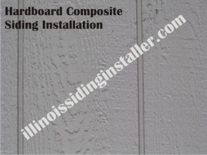Hardboard Composite siding installation in Illinois 1