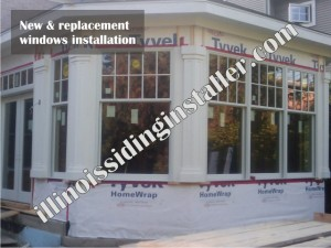 New and replacement windows installation 2 - Illinois Siding Installer