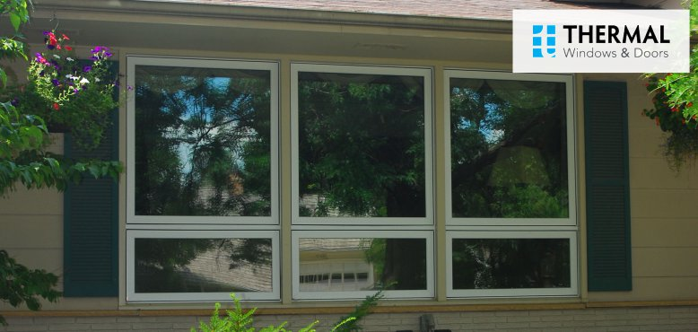 Vinyl awning window installation in chicago for Awning replacement windows