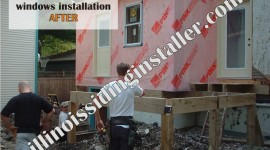 New and replacement windows installation AFTER – Illinois Siding Installer