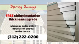 Spring Special – FREE Siding Insulation Upgrade when you order entire house installation from us!