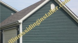 Wood siding installation in Illinois 2